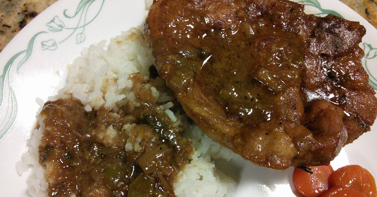 Hot Southern Mess Pork Chops Rice And Gravy