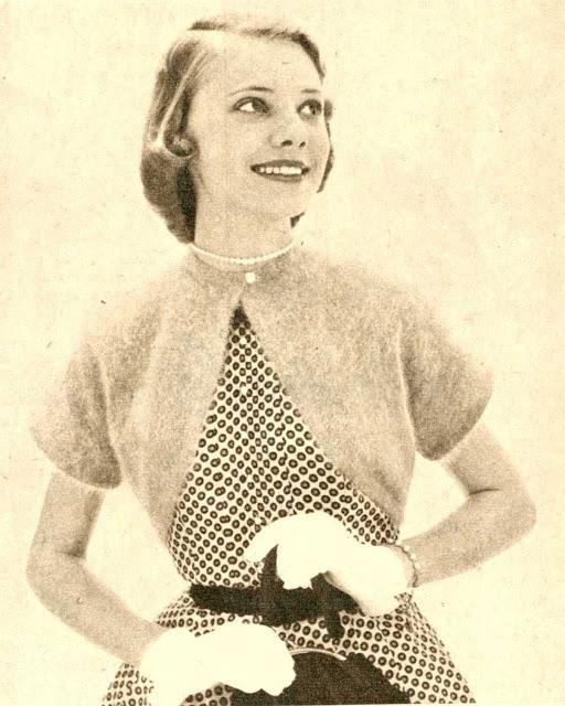 1950's Knitting pattern A Bolero for Party Wear