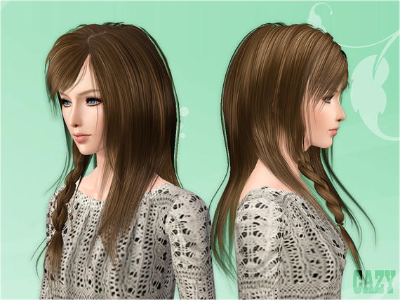 Hairstyles Video Download : My Sims 3 Blog: Cazys Steps Hairstyle Female *free*