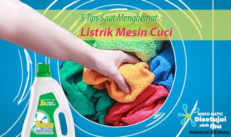5 Tips Memilih untuk Menghemat Listrik Mesin Cuci