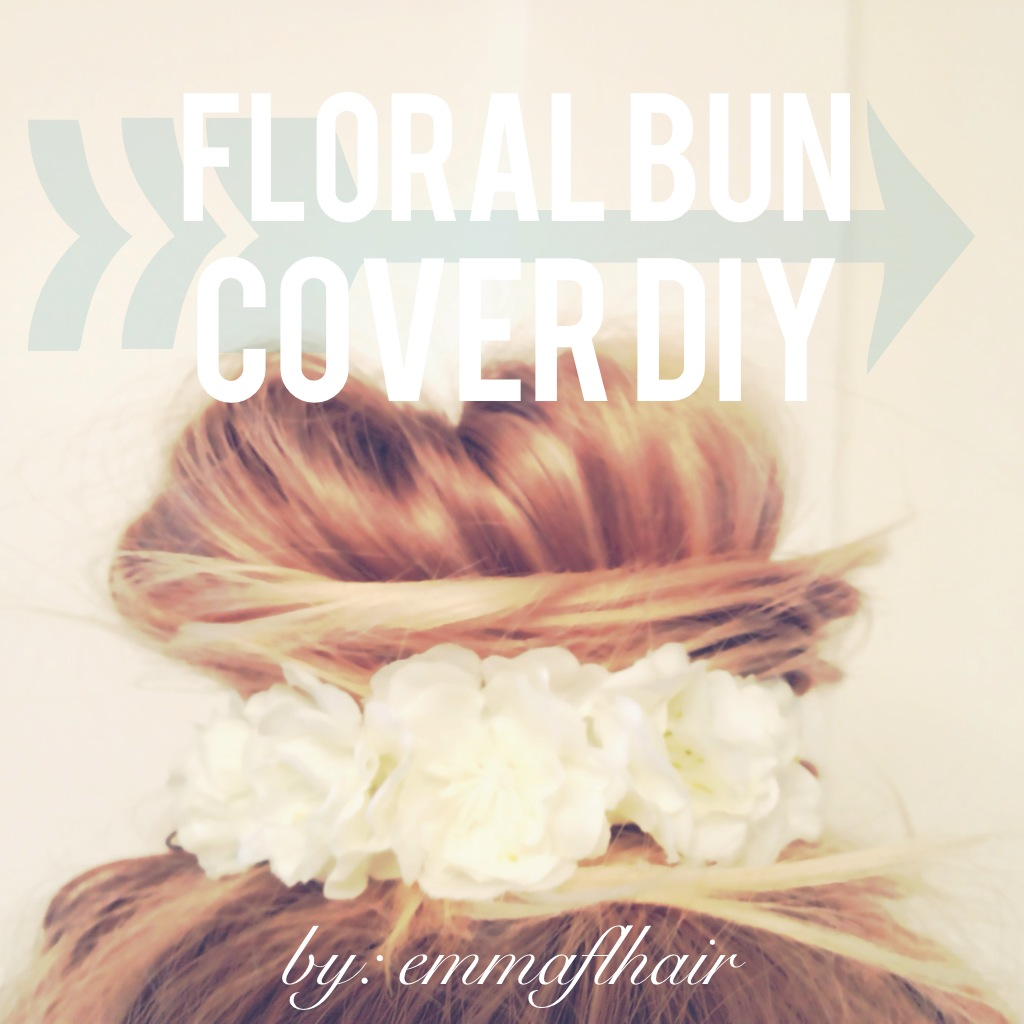How To DIY Mini Floral Bun Cover Wrap - Diy bun cover