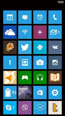 Скриншот главного экрана «Windows Phone 8»