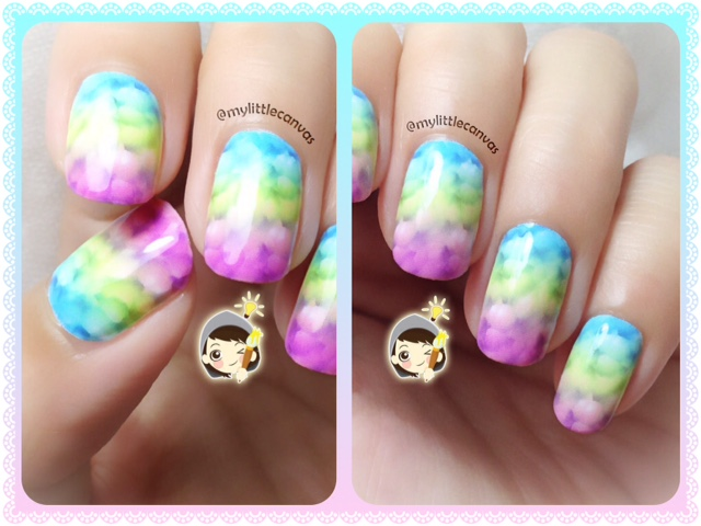 Mood Fixer Nailart : Bubbly Rainbow