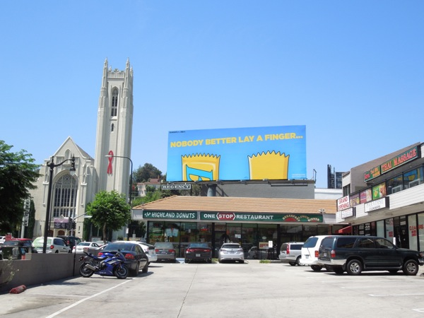 Butterfinger The Simpsons billboard