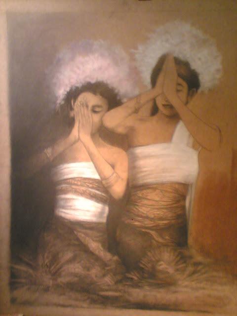 Lukisan Doa,lukisan imajiner,lukisan kasih sayang,lukisn cat minyak,lukisan conte,lukisan pastel