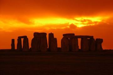 Stonehenge Images Sunset at Stonehenge