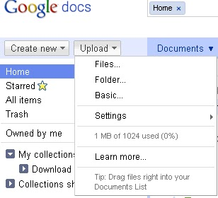 Now You Can Upload Folder in Google Docs 3