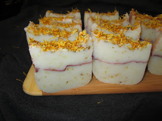 coconut and calenudula soap