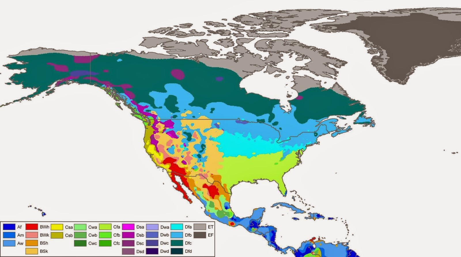 Climate maps United States and Canada climate regions.