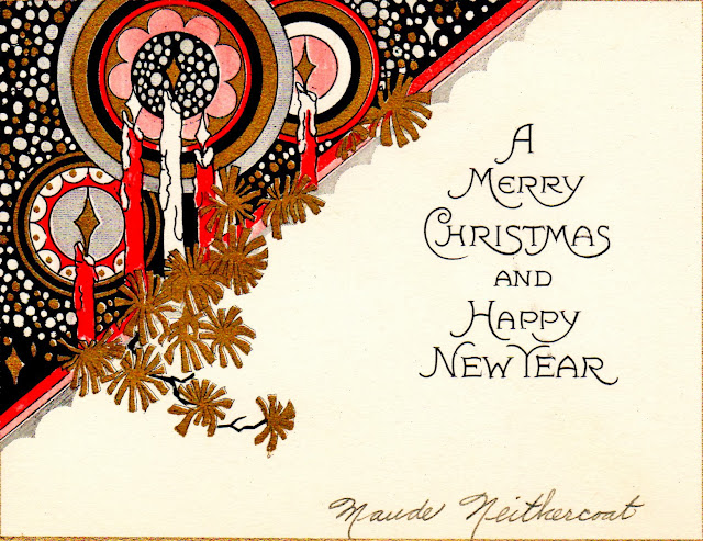 Two Crazy Crafters Art Deco Christmas Card