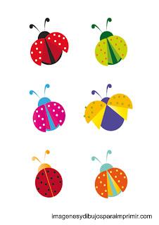 mariquitas de colores para imprimir