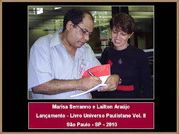 Marisa Serranno e Lailton Araújo - Lançamento de Livro