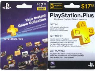 Cartões PSN Plus EUA