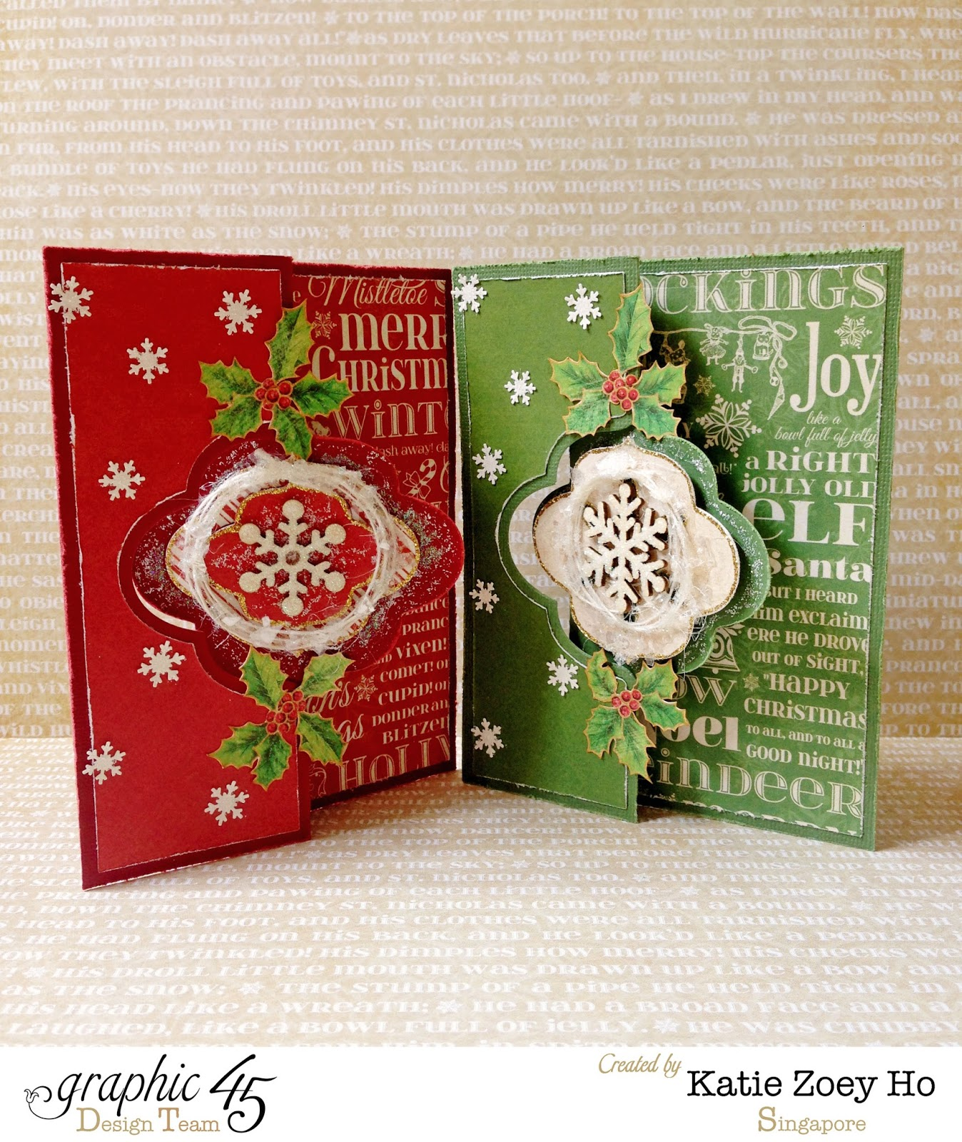 Katie Z. Paperworks: More Handmade Christmas Cards for this Holiday!!!