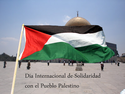 día, internacional, bandera, palestina
