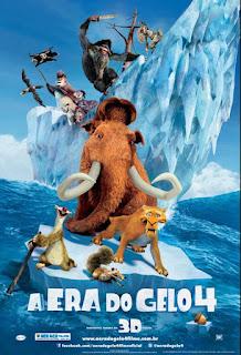 """Cartaz brasileiro da animação """"A Era do Gelo 4"""""""