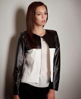 Jacheta moderna in doua culori, cu fermoar ( )