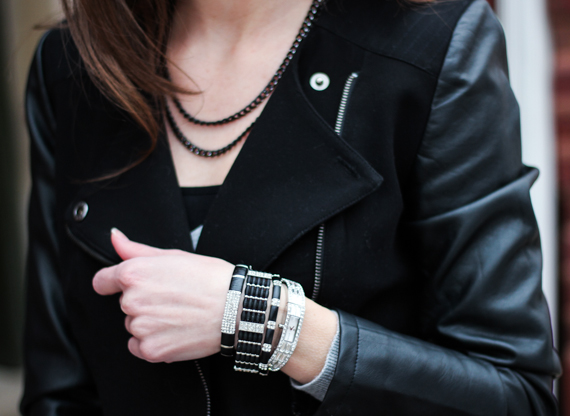 Leather, Chain, Rhinestones | StyleSidebar