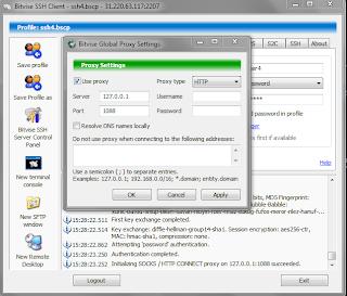 Cara Menggabungkan Bitvise SSH Client + VHTTPTunnels