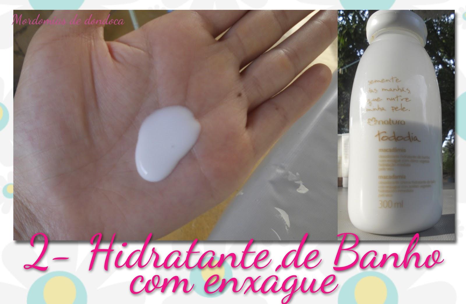 Hidratante de Banho com Enxágue Natura Tododia Macadâmia