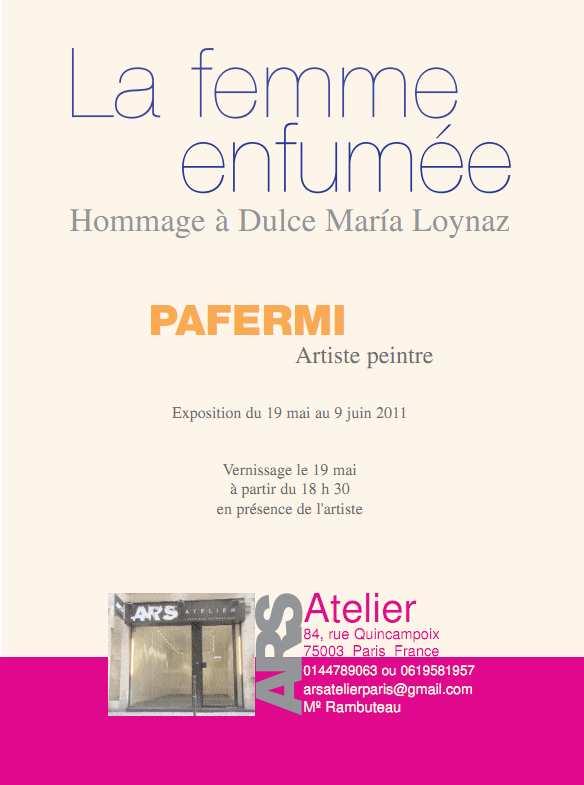 Invitación exposición París.