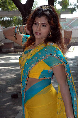 Tollywood Hot Actress Kanishka in Hot Saree Navel Show Photos