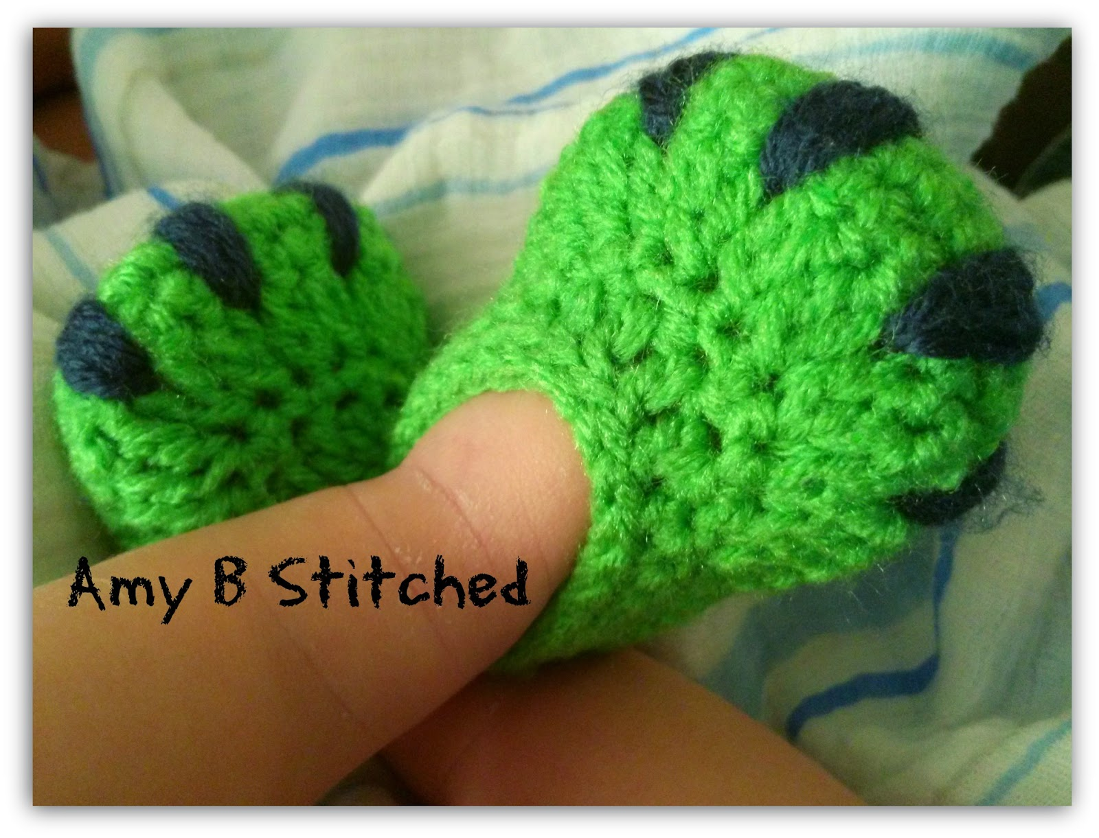 A Stitch At A Time for Amy B Stitched: DINOSAUR BABY Hat and Diaper ...