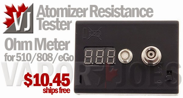 Resistance is... Measurable! Ohm Meter Measures 510/808/eGo