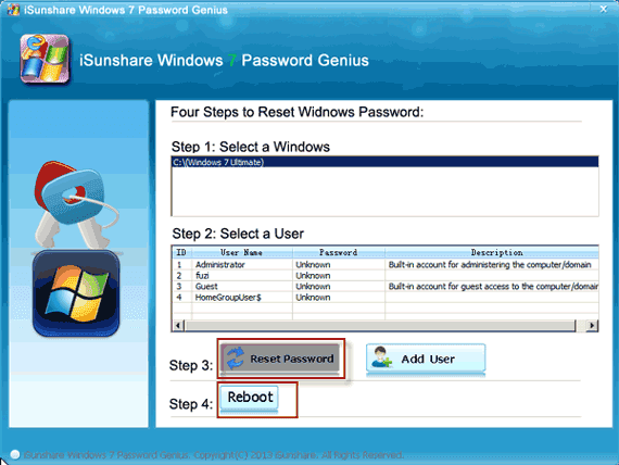 recover windows 7 password with recovery tool