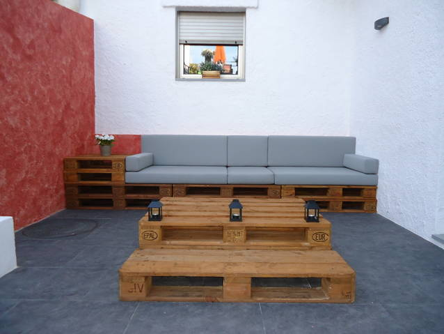 Chill outs y muebles con palets for Muebles chill out exterior