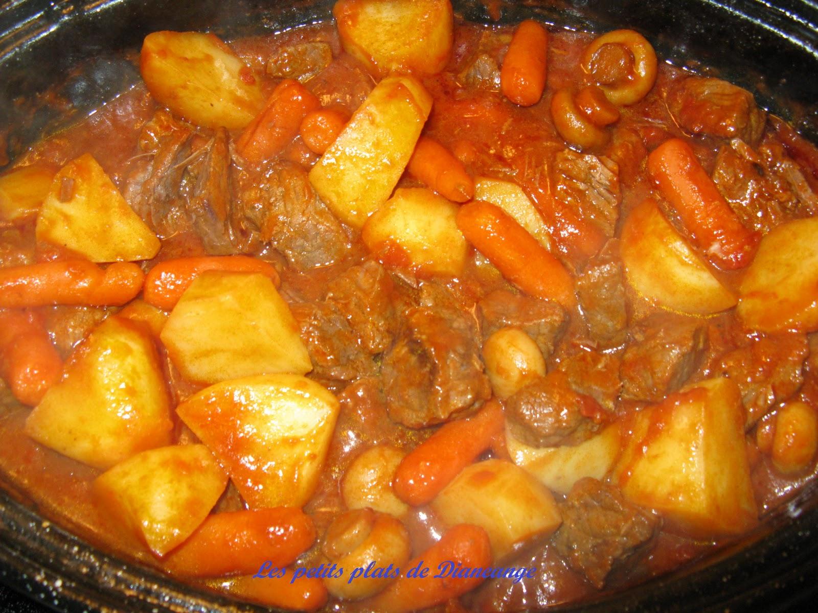 Les petits plats de diane ange boeuf en cubes aux tomates et l gumes - Comment couper une tomate en cube ...