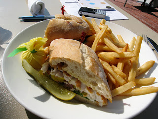 Caribbean grouper sandwich