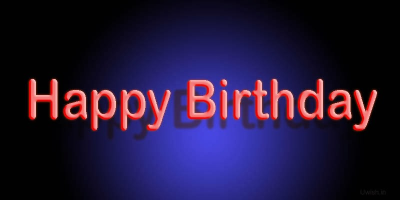 Birthday greetings and wishes with night black background.