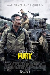 war movie fury (2014) poster