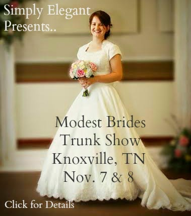 Simply elegant modest brides trunk show for Wedding dress shops in knoxville tn