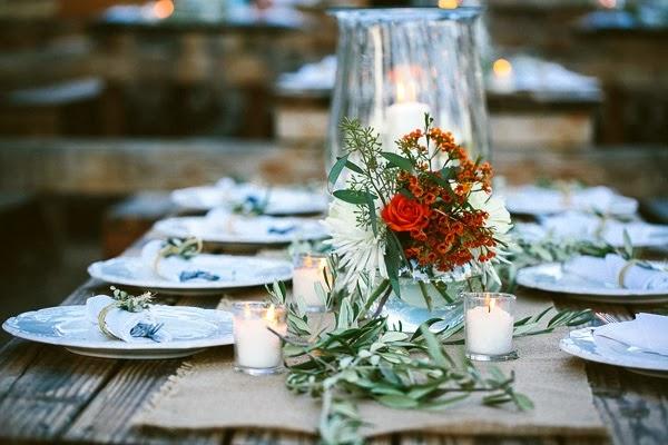 decorar mesa para boda chic de inspiración rústico francesa