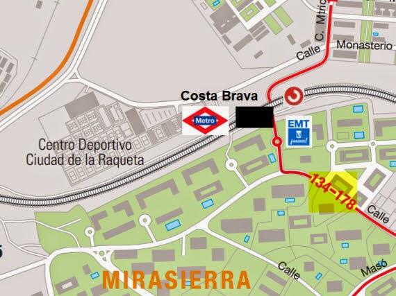 Rama caída en calle Costa Brava
