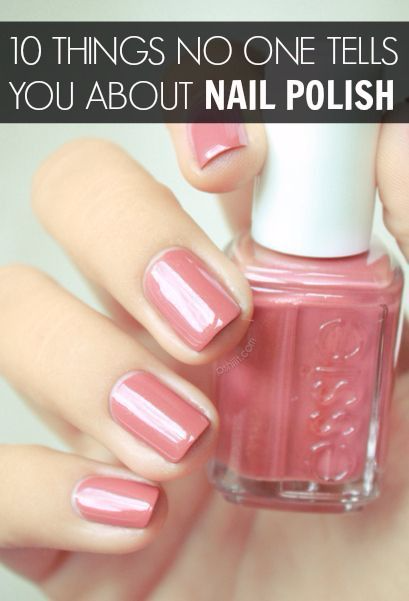 10 Things No One Ever Tells You About Nail Polish