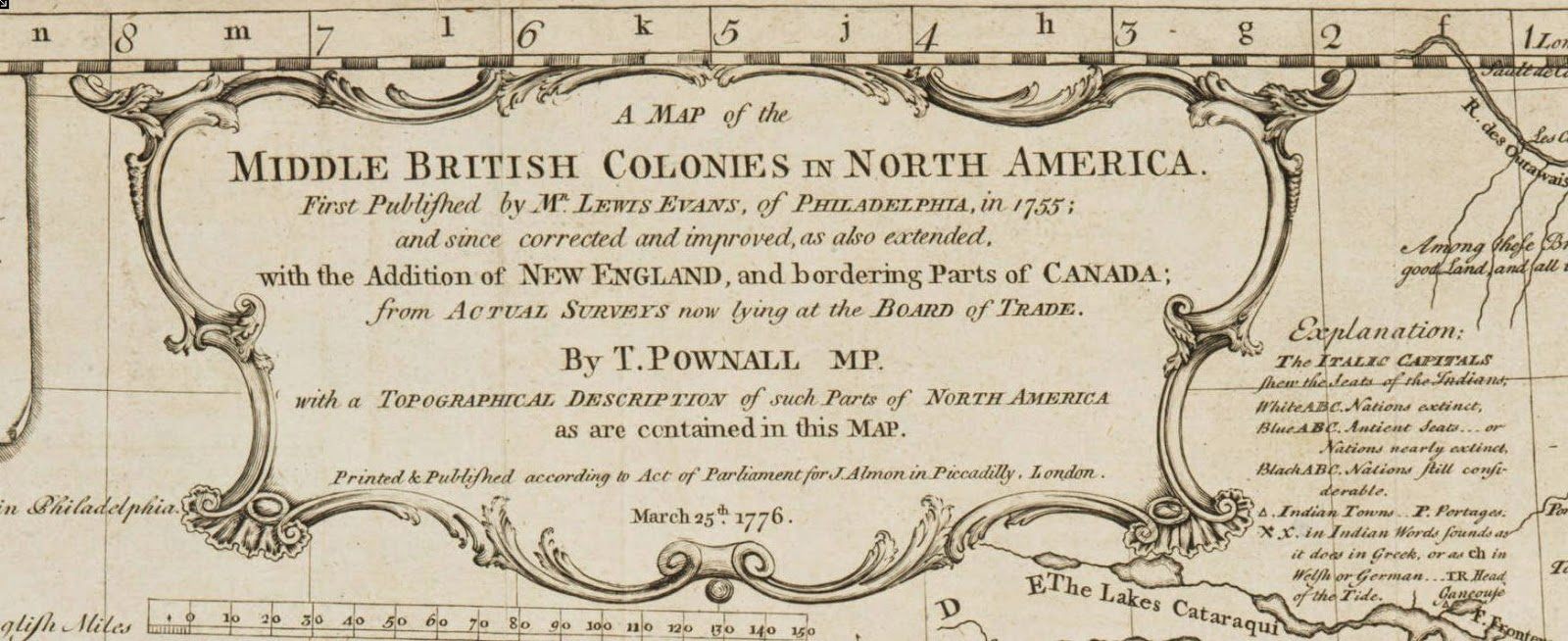 explanation the italic capitals shew the seats of the indians white abc nations extinct blue abc antient seats or nations nearly extinct