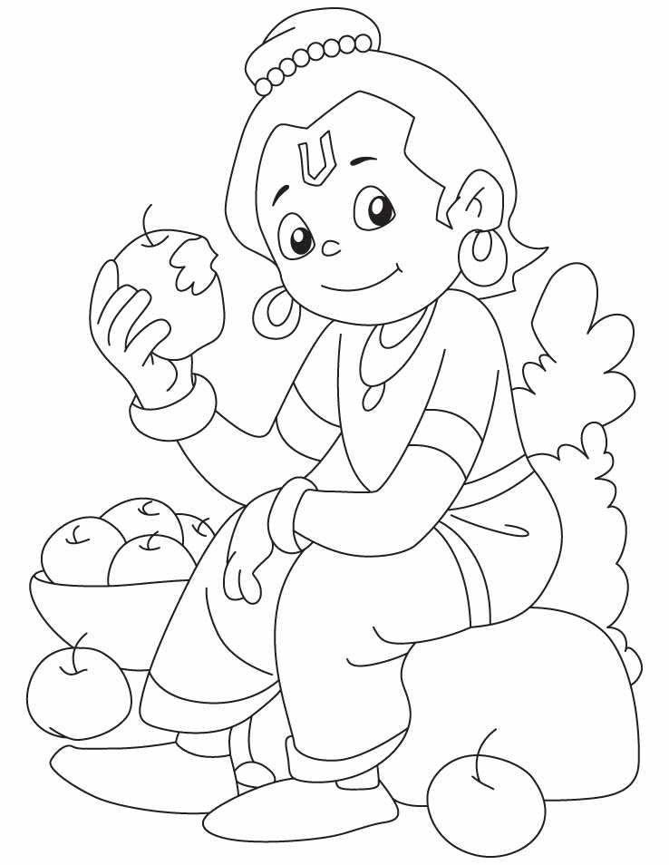 Krishna Printable Coloring Pages