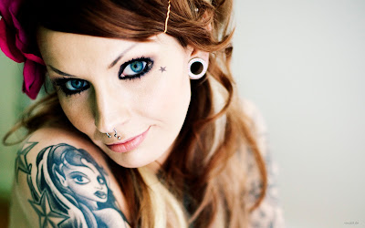 girls tattos piercings wallpapers