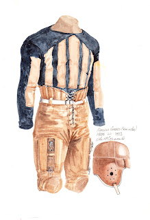 1923 University of Florida Gators football uniform original art for sale