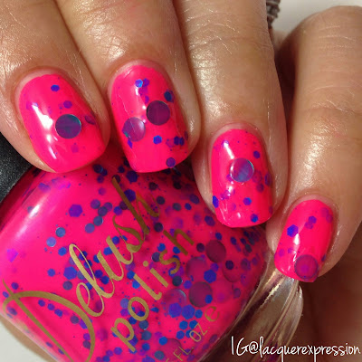 swatch of all babe nail polish from the life's a beach collection from delush polish