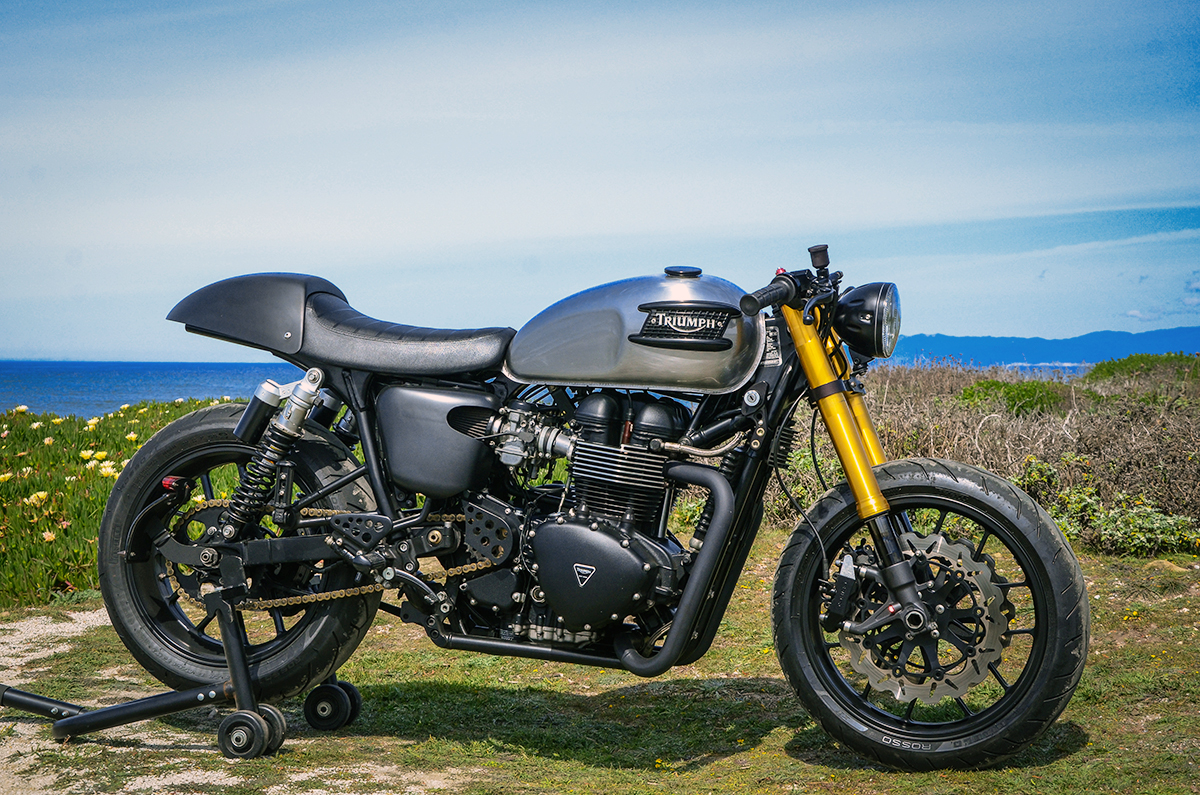 The Bullitt Triumph Bonneville Black Return Of The Cafe
