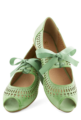 Mint color Flats