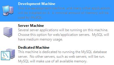Server configuration type