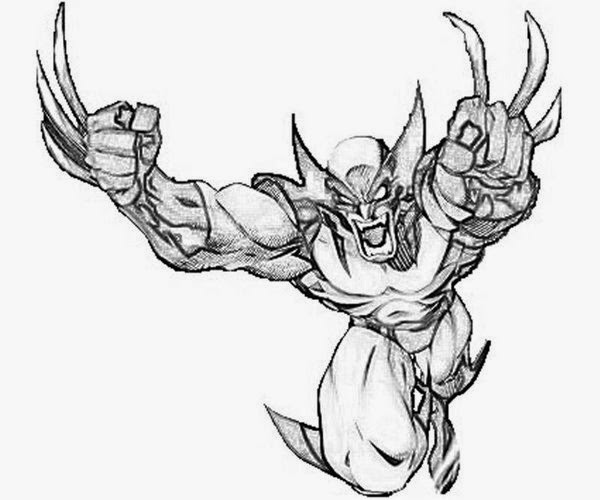 Seeing Action From Wolverine Coloring Pages Free