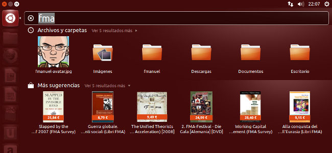 Ubuntu 12.10, sugerencias comerciales