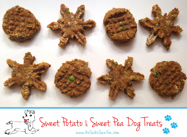 Sweet Potato & Sweet Pea Dog Treat recipe (gluten-free)
