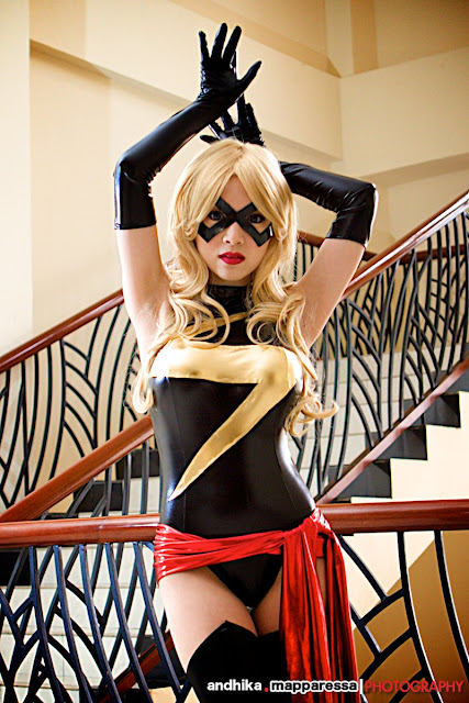 ms marvel, cosplay, vampbeauty, sexy